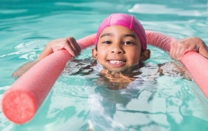 kid Swimming with float